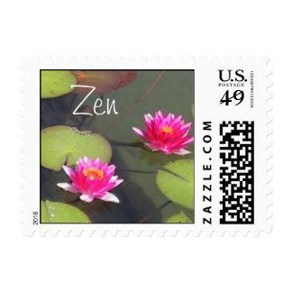 Cojines de lirio y franqueo del zen de Lotus