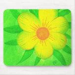 Cojines de ratón amarillos brillantes del verde de tapetes de ratón