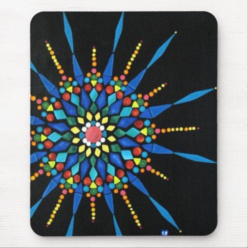 Cojines de ratón coloridos del mosaico de las pied alfombrillas de ratones