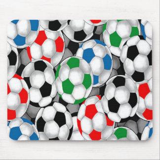 Cojines de ratón coloridos únicos de los balones d tapete de raton