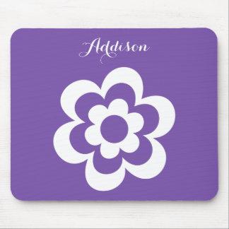 Cojines de ratón de encargo de la lila con la flor alfombrilla de ratones