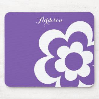 Cojines de ratón de encargo de la lila con la flor mouse pads
