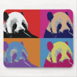 Cojines de ratón del arte pop de la panda alfombrilla de raton