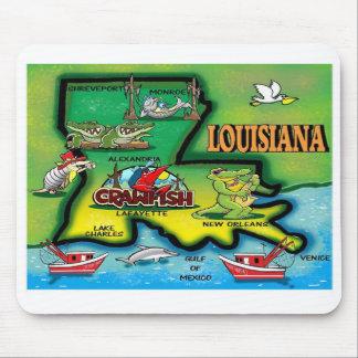 Cojines de ratón del estado de Luisiana Mouse Pads