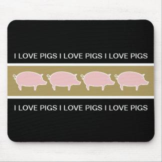 Cojines de ratón del tema del cerdo