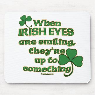Cojines de ratón irlandeses del chiste de los ojos alfombrillas de ratones