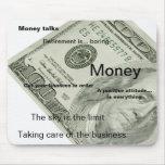 Cojines de ratón personalizados dinero tapete de ratones