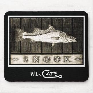 Cojines negros y blancos del vintage de Snook de r Tapete De Ratón