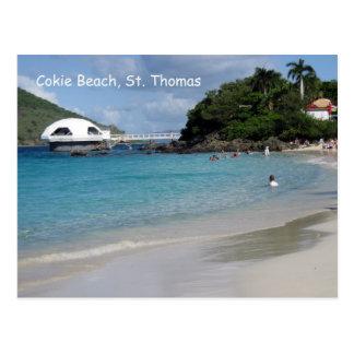 Cokie Beach St Thomas Postcards