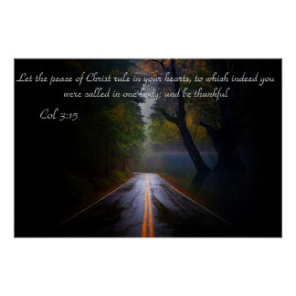 Col 3:15 Let the peace of Christ rule in your... Poster