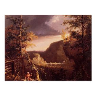 Col Daniel Boone de Thomas que se sienta en la pue Tarjetas Postales