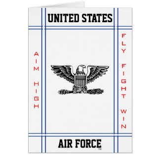 Col de coronel O- 6 de la fuerza aérea Tarjeta De Felicitación