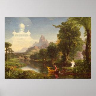 Col de Thomas el viaje del arte del vintage de la Póster