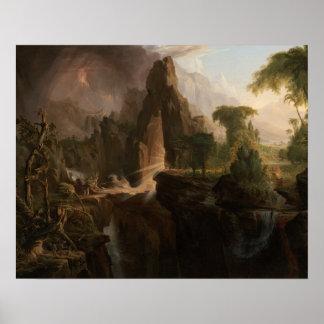 Col de Thomas - expulsión del jardín de Eden Póster
