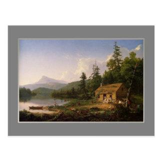 Col de Thomas, hogar en las maderas, 1847. Postal