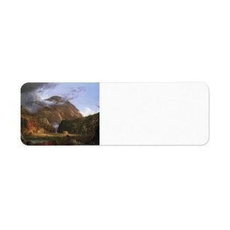Col de Thomas la muesca de las montañas blancas Etiquetas De Remite