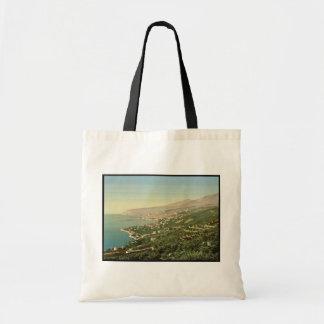 Col di Paggio, San Remo, Riviera vintage Photochro Canvas Bag