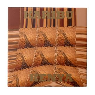 Col elegante del arte moderno de Hakuna Matata de Azulejo Cuadrado Pequeño