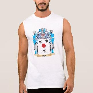 Col escudo de armas - escudo de la familia camisetas sin mangas