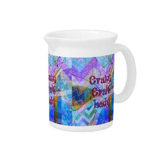 Col loco de señora Blue Purple Butterfly Chevron d Jarras Para Bebida