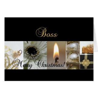 Col negro del navidad-mas del oro de las Felices N Tarjeta De Felicitación