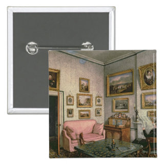 Col. Norcliffe's study at Langton Hall, c.1837 Pinback Button