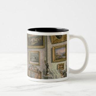 Col. Norcliffe's study at Langton Hall, c.1837 Two-Tone Coffee Mug