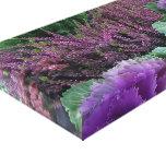 Col rizada y brezo púrpuras impresiones de lienzo