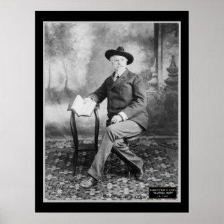 Col. Wm F. Buffalo Bill Cody 1907 Poster
