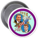 Cola 2012 de capa de Obama Kennedy Pin Redondo 10 Cm