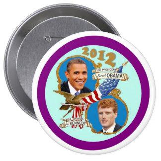 Cola 2012 de capa de Obama Kennedy Pins