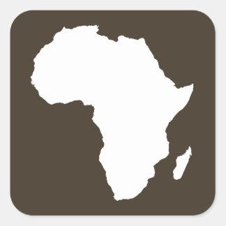 Cola África audaz Pegatina Cuadrada
