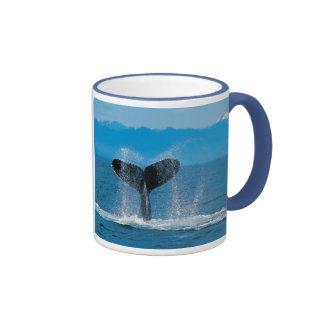 Cola de la ballena jorobada, contra caza de taza de dos colores