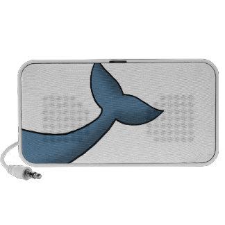 Cola de la ballena jorobada del dibujo animado laptop altavoces
