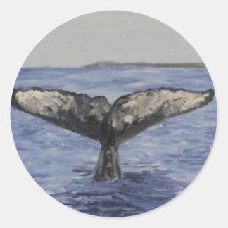 Cola de la ballena etiquetas redondas