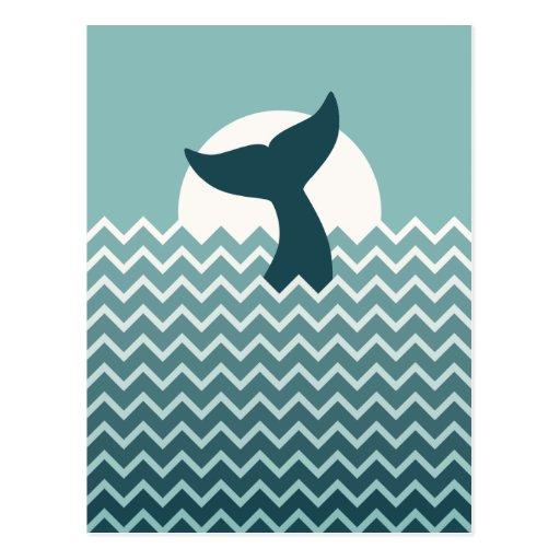 Cola de la ballena postales