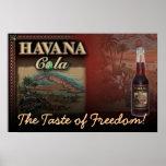 ¡COLA de LA HABANA el gusto de la libertad! Impres Posters