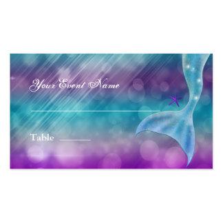 Cola de la sirena encantada bajo asiento de la tarjetas de visita