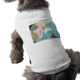 Cola de la sirena y ropa del mascota de los pescad playera sin mangas para perro