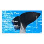 Cola de las tarjetas de una visita de la ballena tarjetas personales