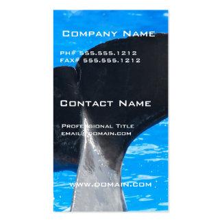 Cola de las tarjetas de una visita de la ballena tarjeta de negocio