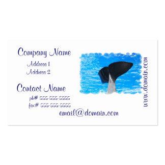 Cola de las tarjetas de una visita de la ballena plantillas de tarjetas personales