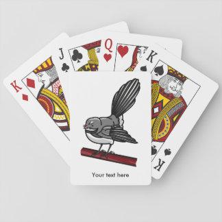 Cola de milano linda del dibujo animado en una cartas de juego
