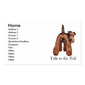 Cola de Terrier galés Tarjetas Personales