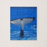 Cola de un rompecabezas de la ballena
