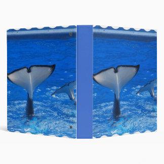 Cola de una carpeta de la ballena