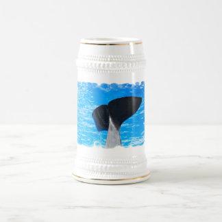 Cola de una cerveza Stein de la ballena Tazas De Café