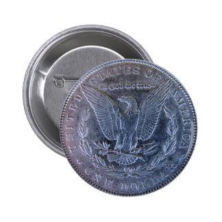 Cola del dólar de plata de Morgan Pin Redondo De 2 Pulgadas
