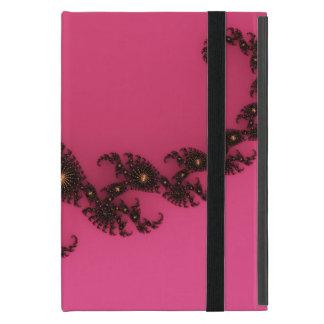Cola del escorpión, arte del fractal - negro iPad mini fundas