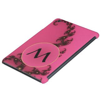 Cola del escorpión con el monograma - negro rosado fundas de iPad mini retina